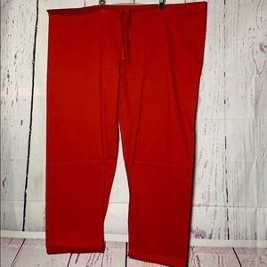 Plus Size Red Scrub Uniform Pants